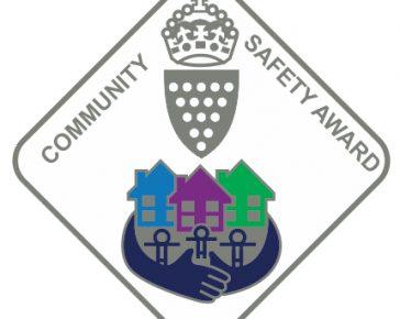 Community Safety Award pin badge